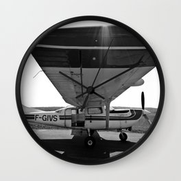 Sky Dive Airplane Wall Clock