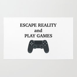 Escape reality and play games Rug