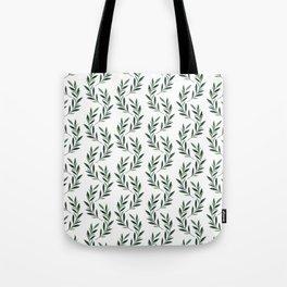 Watercolor Greenery Pattern Tote Bag