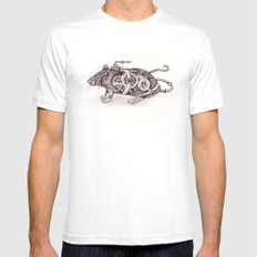 Nathaniel The Steampunk Rat Mens Fitted Tee White MEDIUM