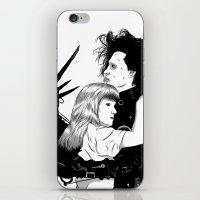 edward scissorhands iPhone & iPod Skins featuring Edward Scissorhands by Gregory Casares