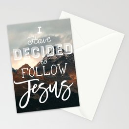 I Have Decided to Follow Jesus - Christian Song Lyric Quote Stationery Cards