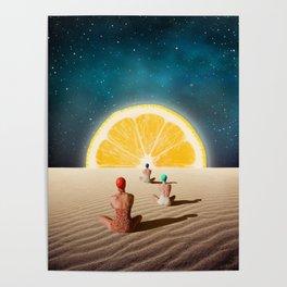 Desert Moonlight Meditation Poster