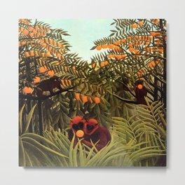 "Henri Rousseau ""Apes in the Orange Grove"" Metal Print"