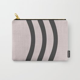 Pastel Pink Black  Waves Carry-All Pouch