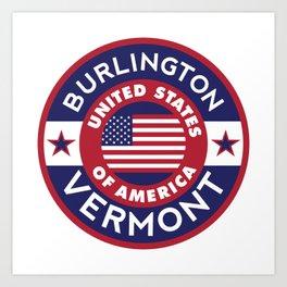 Burlington, Vermont Art Print