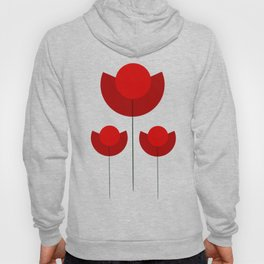 Simple red Tulips Hoody