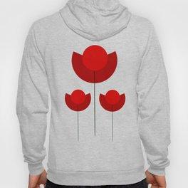 Simple red Tulips Hoody