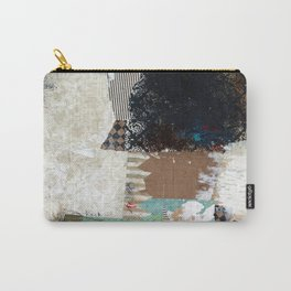 Another Vice Mixed Media Abstract Collage Art Carry-All Pouch
