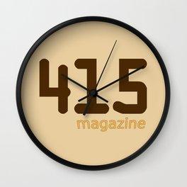 415 Magazine Logo Wall Clock