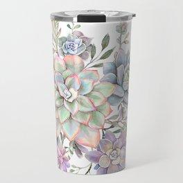 succulent watercolor 8 Travel Mug