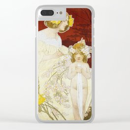Palace of the Woman - Art Nouveau Poster Clear iPhone Case