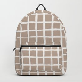 Strokes Grid - Off White on Nude Backpack