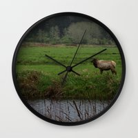 last of us Wall Clocks featuring The Last of Us by nickayyy