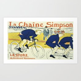Vintage poster - La Chaine Simpson Art Print