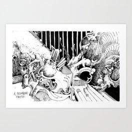 pillars of mmid Art Print