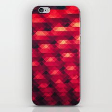 Abstract Color Pattern in Red iPhone Skin