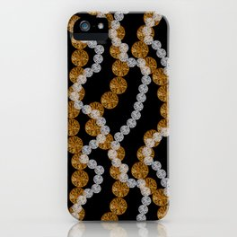 Silver and gold. Chains and waves. iPhone Case