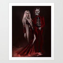 Red Magick Art Print