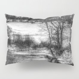 Down By The Waters Edge  - Black And White Pillow Sham