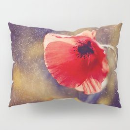 Red Poppy On Violet Pillow Sham