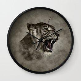 Roaring Liger - Digital Art Wall Clock