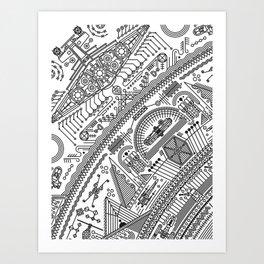 Four - Version 2 (with details) Art Print