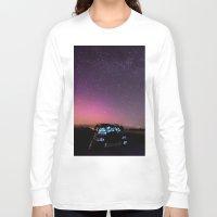 subaru Long Sleeve T-shirts featuring Nocturnal Subaru by Race Jones