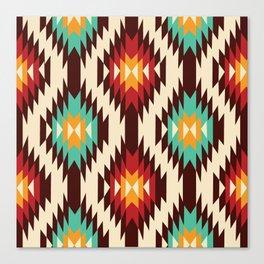 American Native Pattern No. 182 Canvas Print
