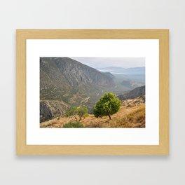 Delphi Valley Framed Art Print