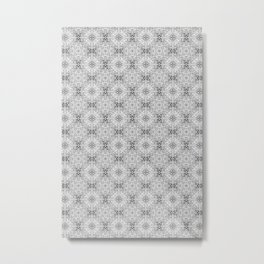 Gravel Square Gray Pattern Metal Print