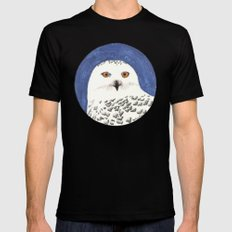 snowy owl Black MEDIUM Mens Fitted Tee