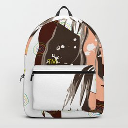 Sultry Disposition, Fashion Illustration Earth Tones Backpack