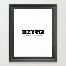 BZYRQ Logo (Black on White) Framed Art Print