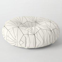 Gisela Geometric Line Pattern - Black & White Floor Pillow