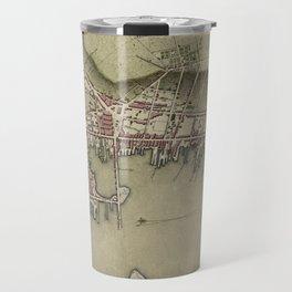 Map of Newport 1777 Travel Mug