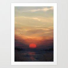 Red Sun Art Print