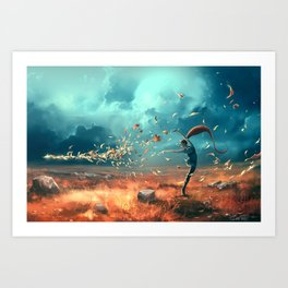 SAGITTARIUS form the Dancing Zodiac Art Print