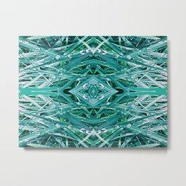 Green Drop Metal Print