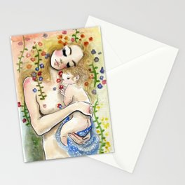 Klimt6 : Mother and Child Stationery Cards