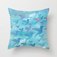 wings Throw Pillows featuring Wings by sandesign