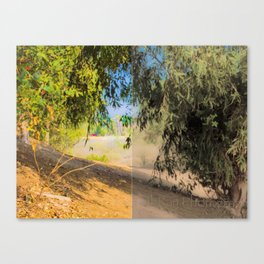 a walk into trees || collage Canvas Print