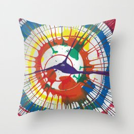 Colorful Spin Throw Pillow