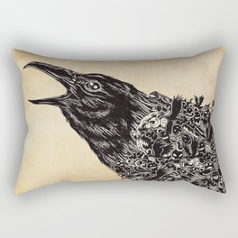 CROW-ded Rectangular Pillow