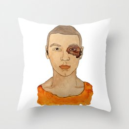 Bruised Thug Throw Pillow