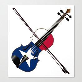 Texas Fiddle Canvas Print