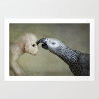 friendship Art Prints featuring Friendship by Ellen van Deelen