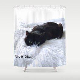 The hunt is on Shower Curtain