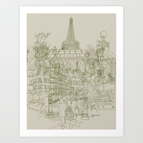 Paris! Musty Art Print