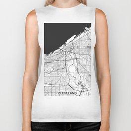 Cleveland Map Gray Biker Tank